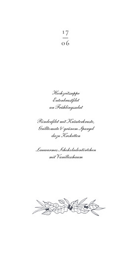 Menükarte Naturgemälde weiß - Seite 3