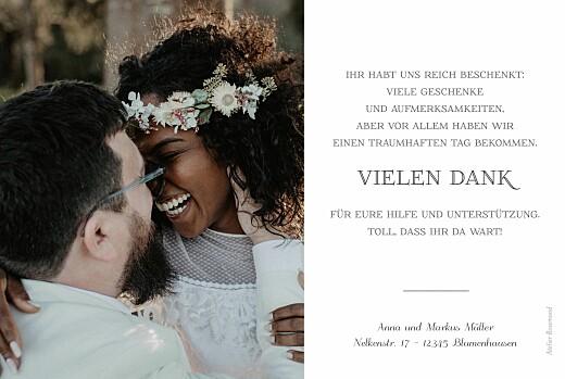Dankeskarten Hochzeit Calathea blue - Seite 2