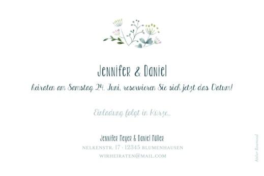 Save-the-Date Karten Wildblumen foto rosa - Seite 2
