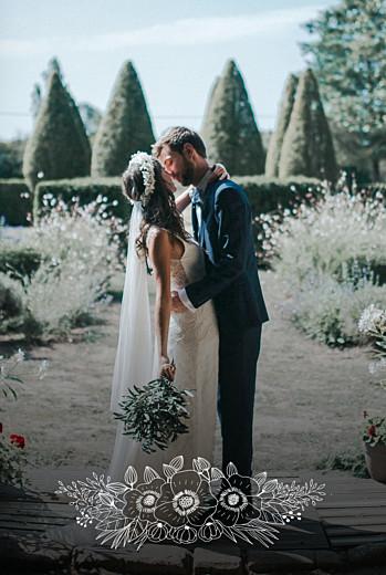 Dankeskarten Hochzeit Naturgemälde hoch weiß