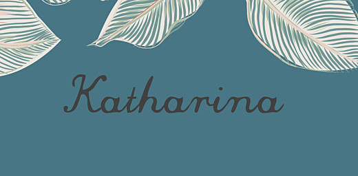 Platzkarte Calathea blau