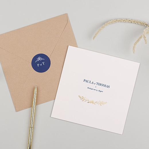 Aufkleber Hochzeit Naturnah blau - Gamme