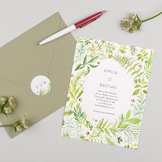 Aufkleber Hochzeit Waldgeflüster grün - Gamme