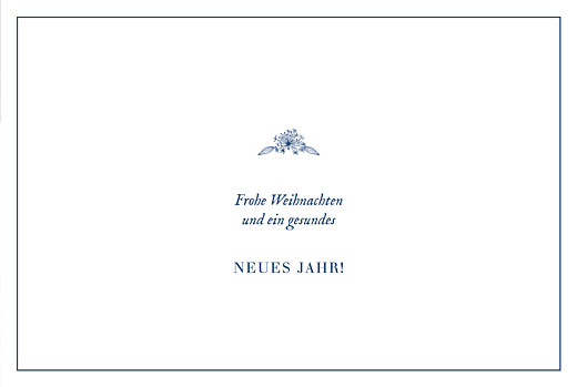 Weihnachtskarten geschäftlich Naturnah klappkarte (gold) blau - Seite 3