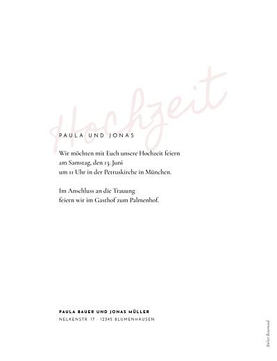 Hochzeitseinladungen Manuskript hoch rot - Seite 2