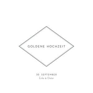Geburtstagseinladungen gold floralie (gold) weiß