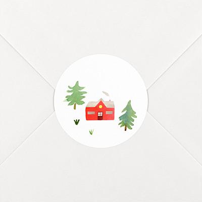 Aufkleber weihnachten tannenwald grün rot