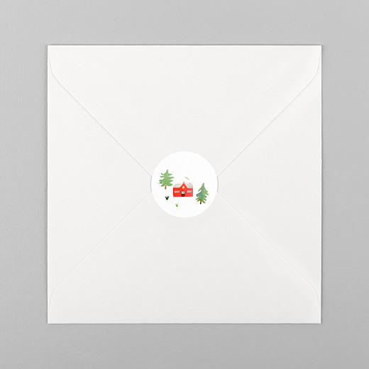 Aufkleber Weihnachten Tannenwald grün rot - Ansicht 1