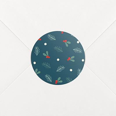 Aufkleber weihnachten winterbeeren blau