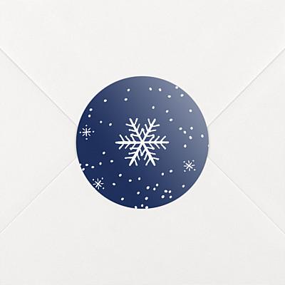 Aufkleber weihnachten wintertage blau