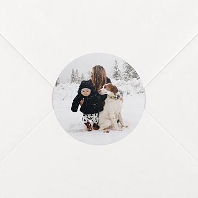 Aufkleber weihnachten foto weiß