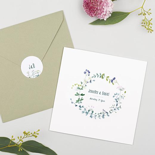 Aufkleber Hochzeit Wildblumen rosa - Gamme