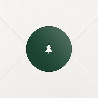 Aufkleber weihnachten elegant tannenbaum grün