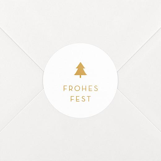 Aufkleber Weihnachten Elegant tannenbaum gelb - Ansicht 2