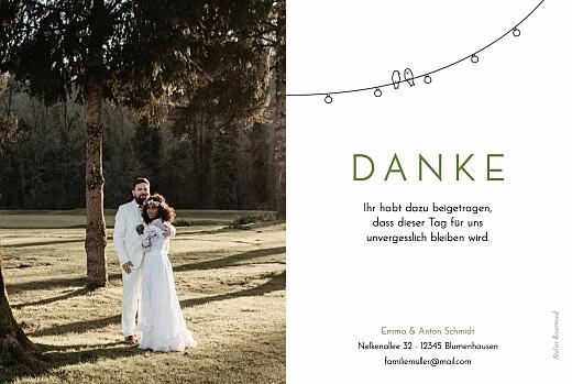 Dankeskarten Hochzeit Sommerhochzeit weiß - Seite 2
