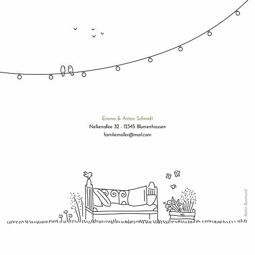 Dankeskarten Hochzeit Sommerhochzeit klappkarte weiß - Seite 4