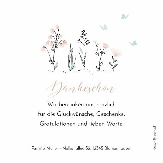 Dankeskarten Familienidylle rosa - Seite 2