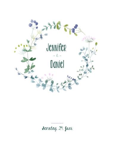 Poster klein Wildblumen blue - Seite 1