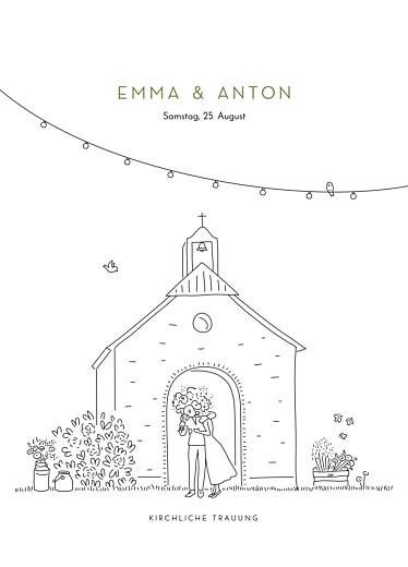 Kirchenheft Hochzeit Sommerhochzeit weiß