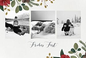 Weihnachtskarten klassisch daphné winter
