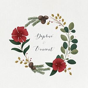 Hochzeitseinladungen beige daphné (klappkarte) winter
