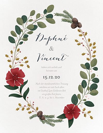 Hochzeitseinladungen Daphné winter finition