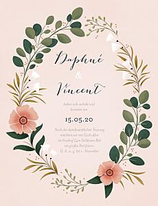 Hochzeitseinladungen rosa daphné frühling