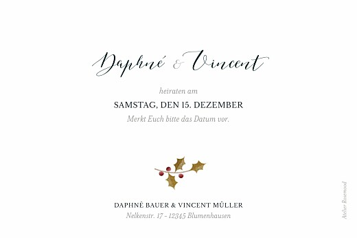 Save-the-Date Karten Daphné winter - Seite 2