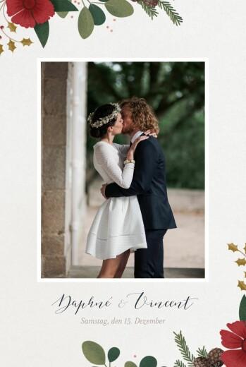 Dankeskarten Hochzeit Daphné winter