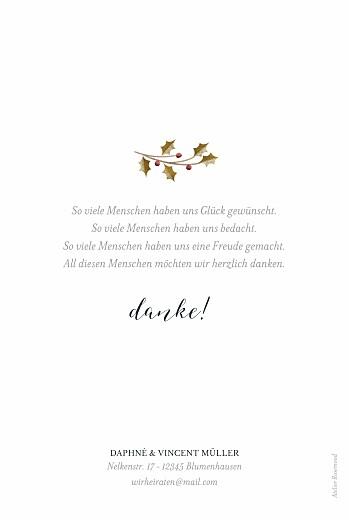 Dankeskarten Hochzeit Daphné winter - Seite 2