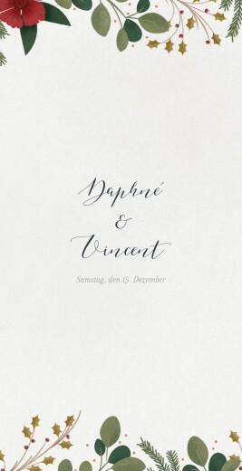 Menükarte Daphné (klappkarte) winter