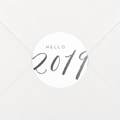 Aufkleber weihnachten neues jahr 2019