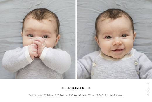 Geburtskarten Minimal lang weiss - Seite 2