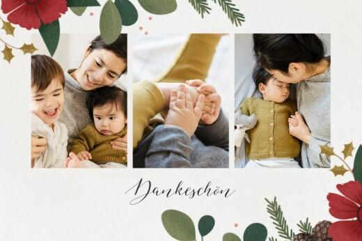 Dankeskarten Daphné winter