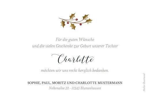 Dankeskarten Daphné winter - Seite 2