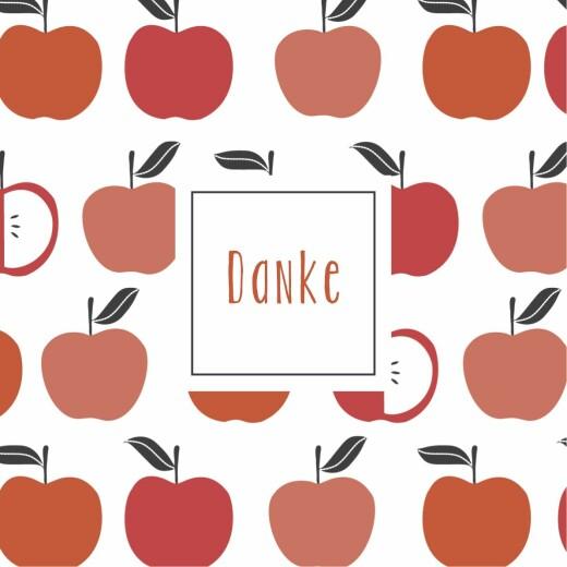 Dankeskarten Kleine früchte apfel
