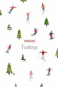 Weihnachtskarten muster winterurlaub foto weiß