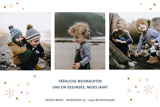 Weihnachtskarten Neujahrsschnee blau - Seite 2