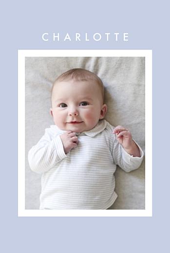 Geburtskarten Fotoecken (gold) violett