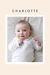 Geburtskarten beige fotoecken (gold) beige