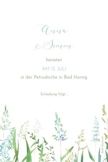 Save-the-Date Karten Sommerwiese grün - Seite 2
