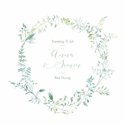 Hochzeitseinladungen Sommerwiese grün
