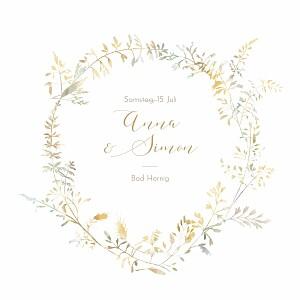 Hochzeitseinladungen grau sommerwiese sand