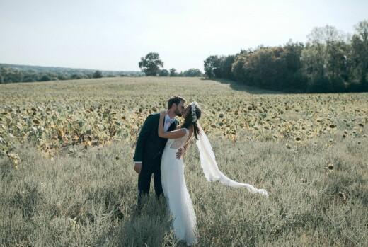Dankeskarten Hochzeit Sommerwiese grün