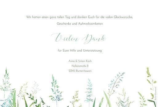 Dankeskarten Hochzeit Sommerwiese grün - Seite 2