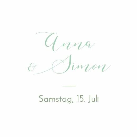 Anhänger Hochzeit Sommerwiese grün