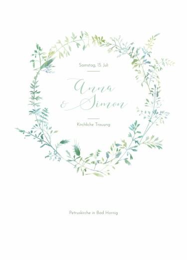 Kirchenheft Hochzeit Sommerwiese grün