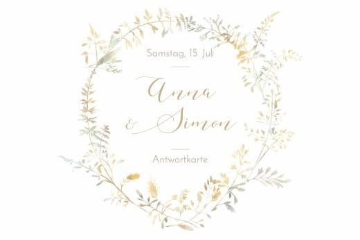 Antwortkarte Hochzeit Sommerwiese sand