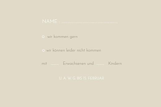 Antwortkarte Hochzeit Sommerwiese sand - Seite 2