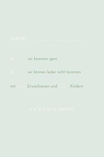 Antwortkarte Hochzeit Sommerwiese hoch grün - Seite 2